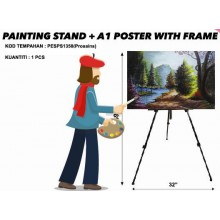 PESPS1358 PAINTING STAND + A1 POSTER WITH FRAME