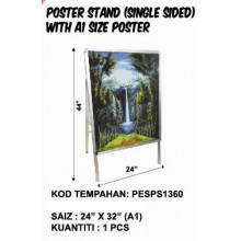 PESPS1360 POSTER STAND (SINGLE SIDED) WITH A1 SIZE POSTER
