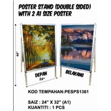 PESPS1361 POSTER STAND (DOUBLE SIDED) WITH 2 A1 SIZE POSTER