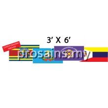 BENDERA SEKOLAH 3'x6'   (2PCS /SET)
