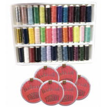 39 COLOUR SEWING THREAD WITH NEEDLE