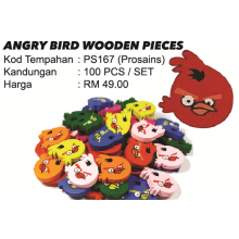 ANGRY BIRD WOODEN PIECES