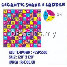 PESPS560 GIGANTIC SNAKE & LADDER + 1 GIANT DICE