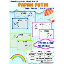 AT028 A3 PAPAN PUTIH DWI-BELAH I DOUBLED SIDED (12PCS / 1SET)