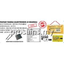 RBT330 (Prosains) - PAPAN TANDA ELEKTRONIK (4 WARNA) (40 PCS)