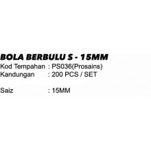 BOLA BERBULU S - 15MM
