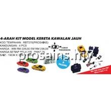 RBT570 (Prosains) 4-ARAH KIT MODEL KERETA KAWALAN JAUH (4 PCS)