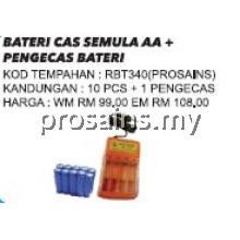 RBT340 (Prosains) BATERI CAS SEMULA AA + PENGECAS BATERI
