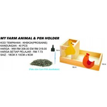 KHSK24 MY FARM ANIMAL & PEN HOLDER (40 PCS)