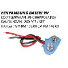 KH039 (Prosains) PENYAMBUNG BATERI 9V (200 PCS)