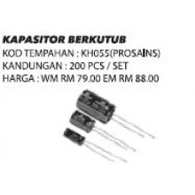 KH055 (Prosains) KAPASITOR BERKUTUB (200 PCS / SET)