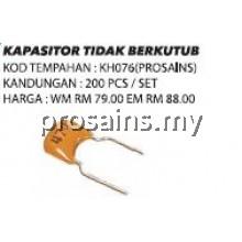 KH076 (Prosains) KAPASITOR TIDAK BERKUTUB (200 PCS / SET)