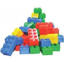 BUILDING BRICKS (+/- 84 pcs)