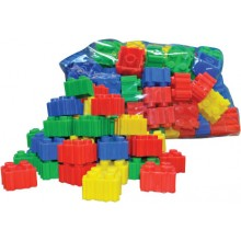 PUZZLE BUILDING BRICKS (+/- 60 pcs)