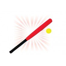 PJK012(ProSains) EVA FOAM BASEBALL BAT WITH BALL (8 PCS / SET)