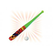 JUNIOR CARTOON BASEBALL BAT WITH BALL (8 PCS / SET)