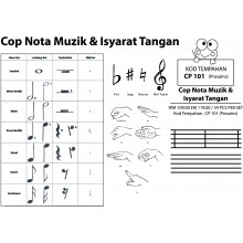 CP101(ProSains) COP NOTA MUZIK & ISYARAT TANGAN (34 PCS / SET)